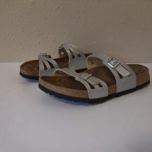 Birkenstock Granada silver Sz 38 women sandal